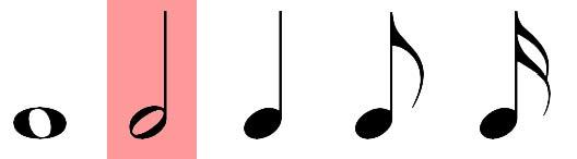 الكتابة والرسم اليدوي للأشكال والرموز والعلامات الموسيقية : 2 - رسم  البيــــــضــــاء